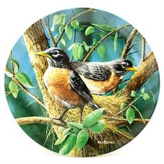 Decorative Plate with Robins in a tree from Premier Homegoods site