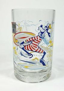 Glassware with Goofy in swimsuit from Premier Homegoods site